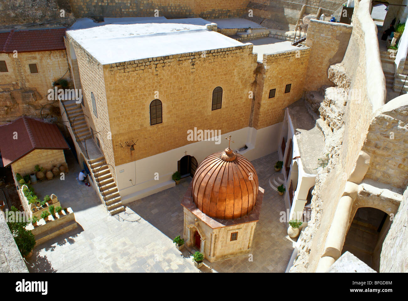Greek Orthodox Monastery of Mar Saba (St. Sabas) in Judean Desert, Israel Stock Photo