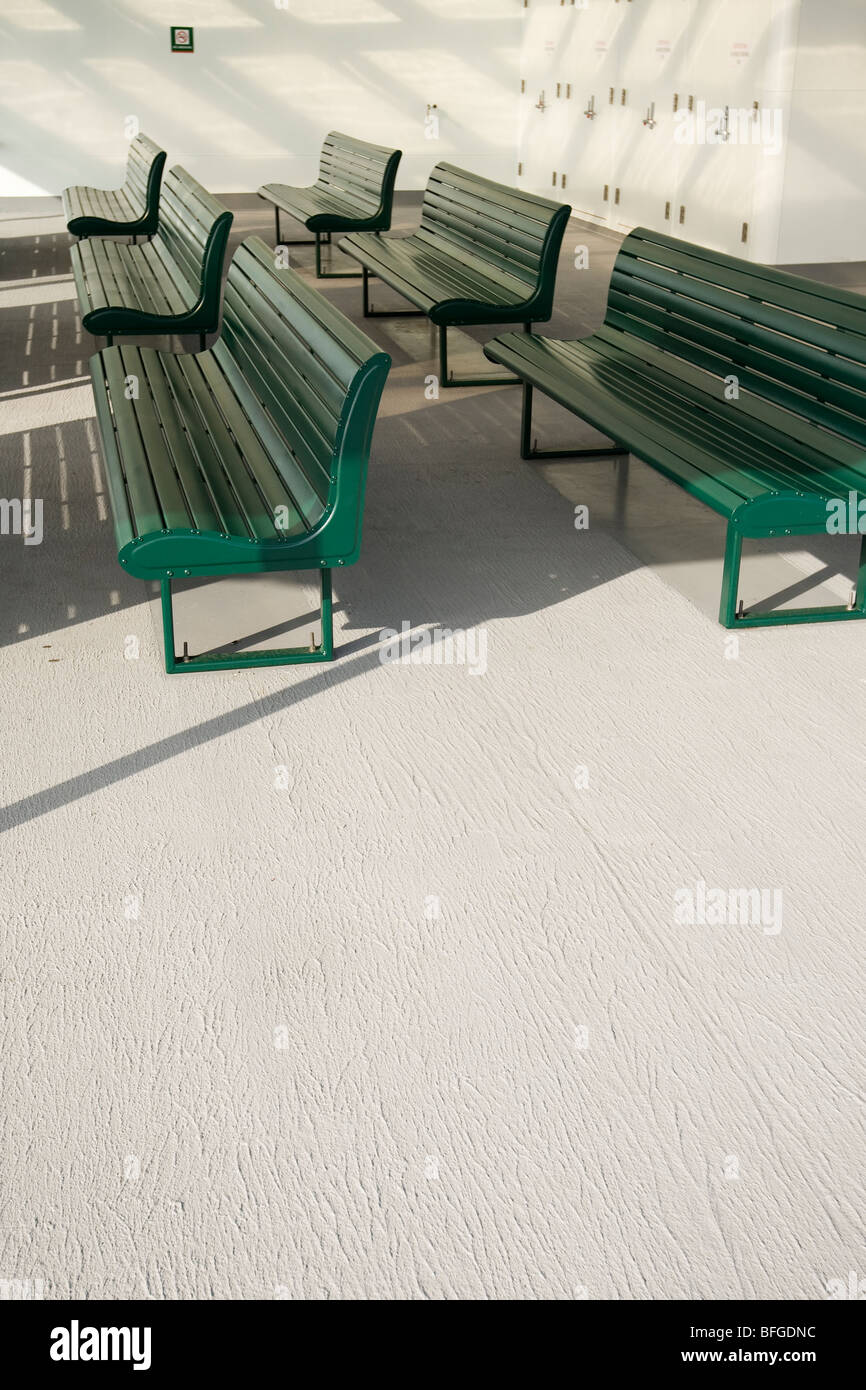 ferry benches - Stock Image