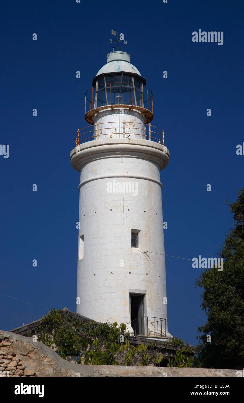 paphos lighthouse republic of cyprus europe - Stock Image