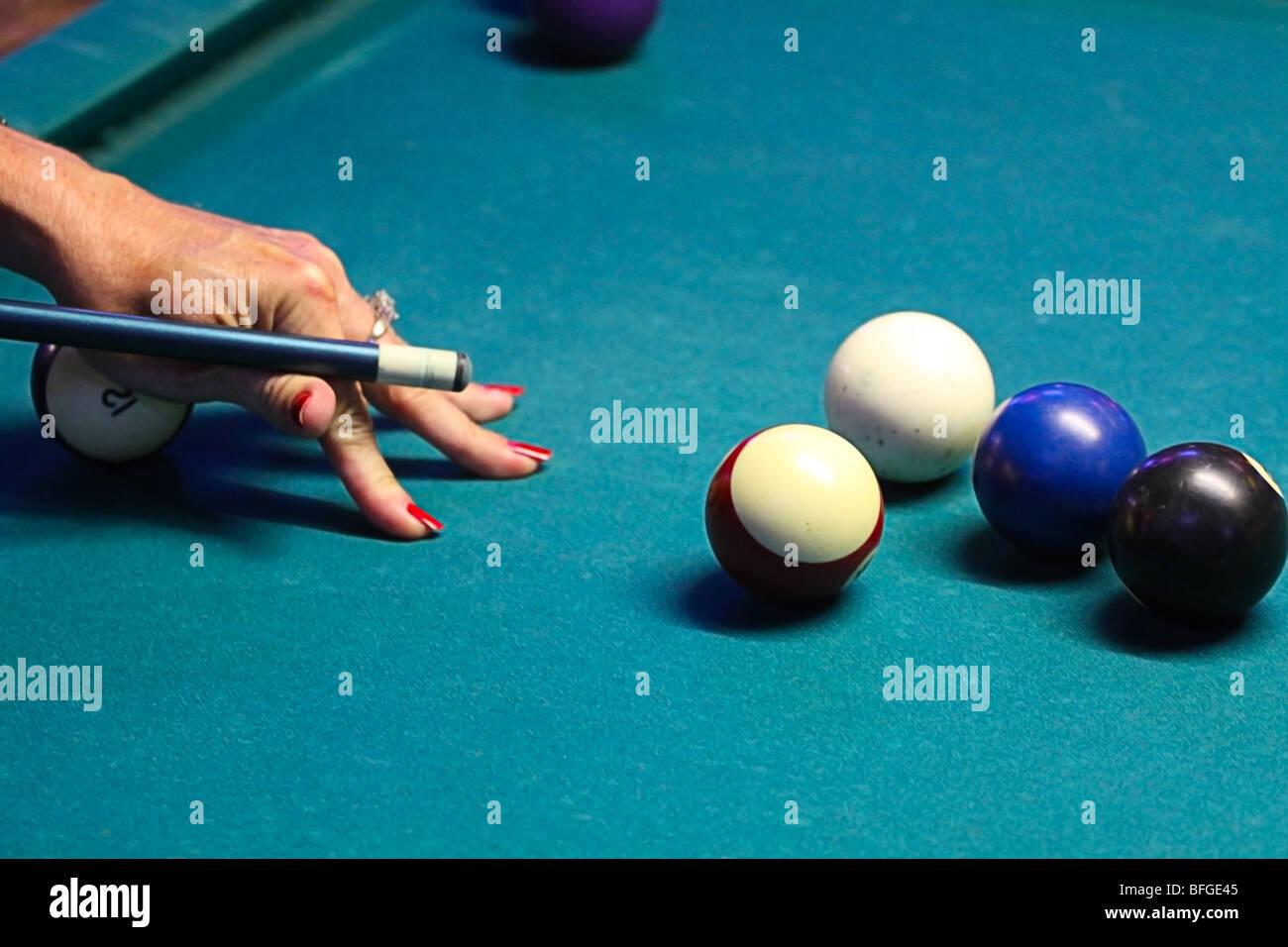 Pool game detail. - Stock Image