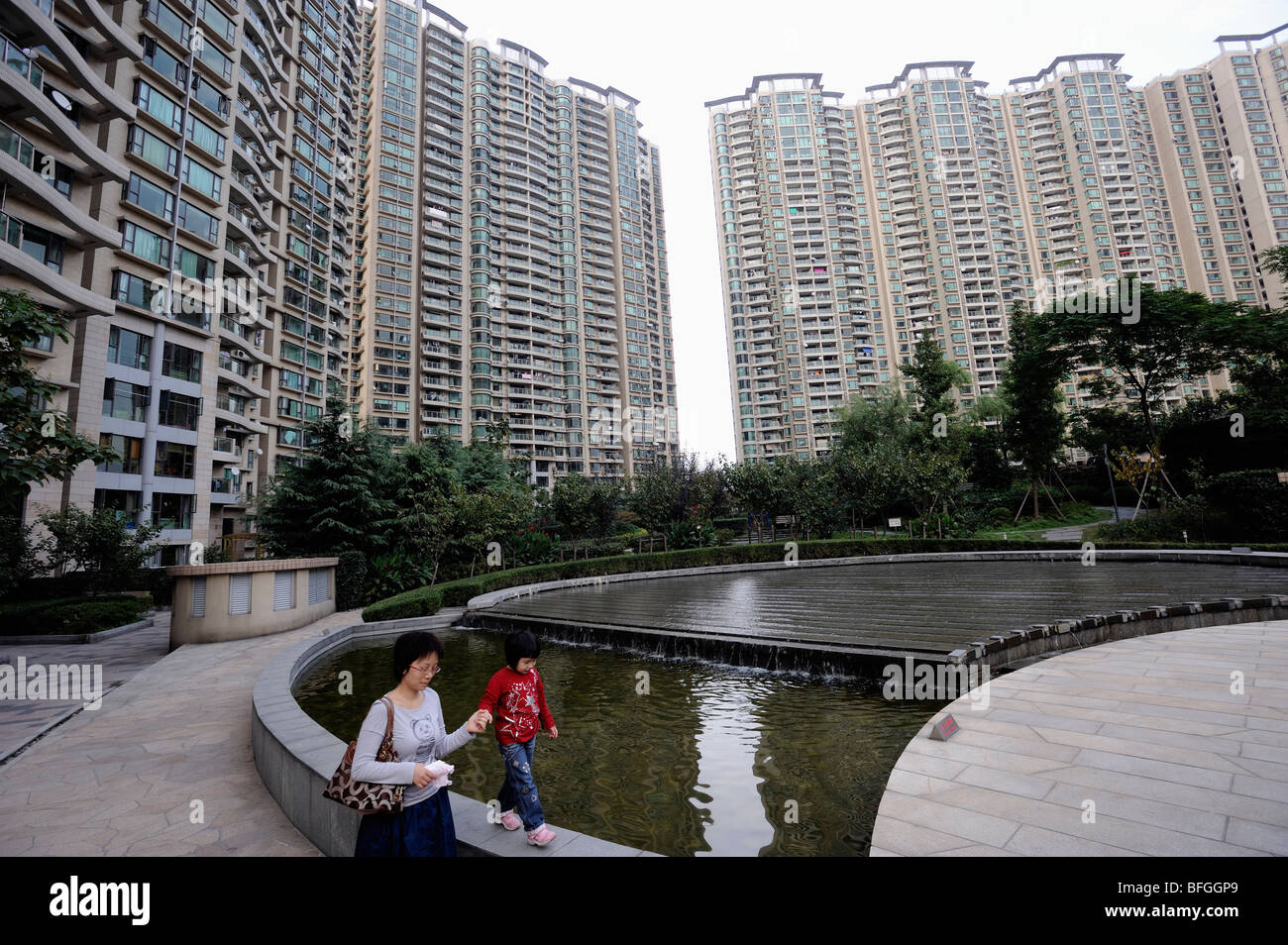 Luxurious apartments in Shanghai, China. 08-Oct-2009 - Stock Image