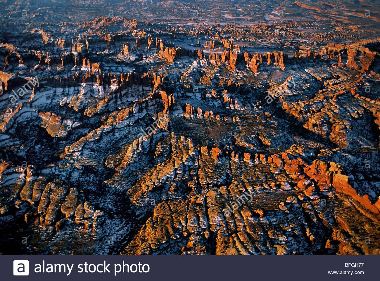 Canyonlands National Park (aerial), Utah - Stock Image