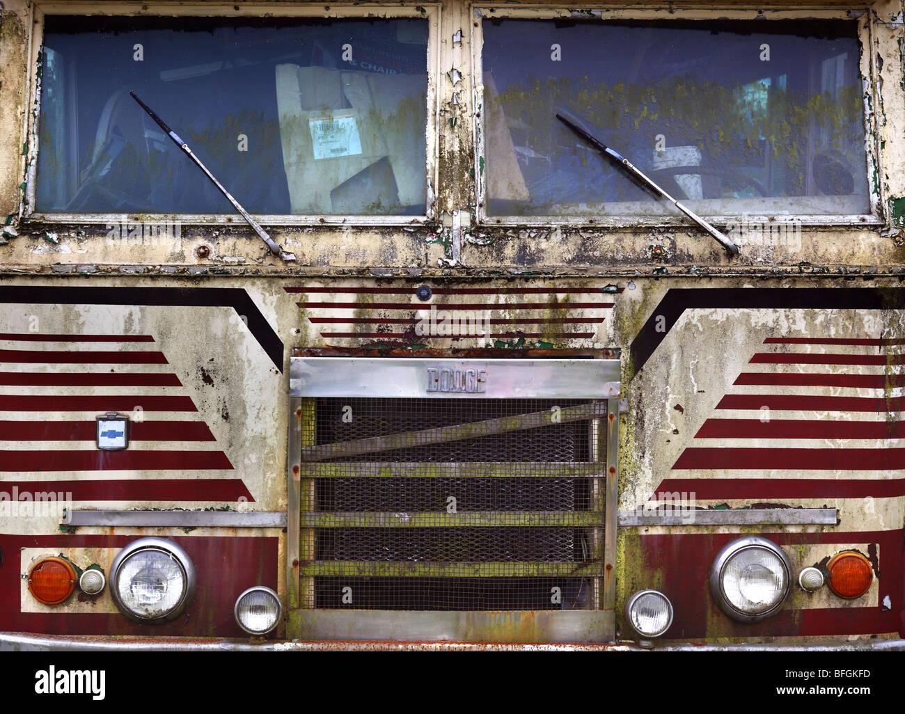 Old Winnebago motorhome past its best. - Stock Image