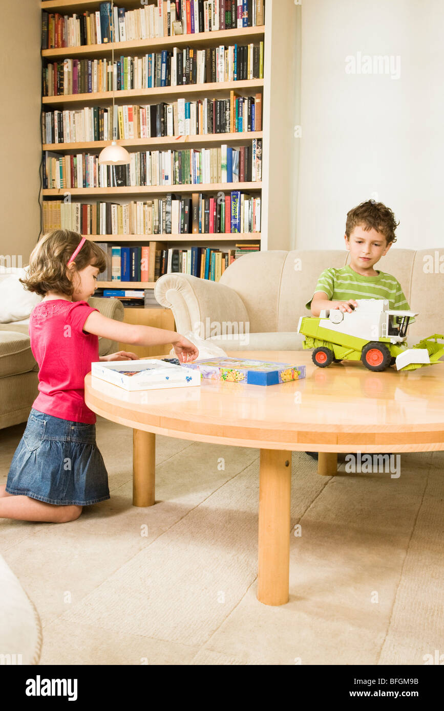 children playing in room Stock Photo