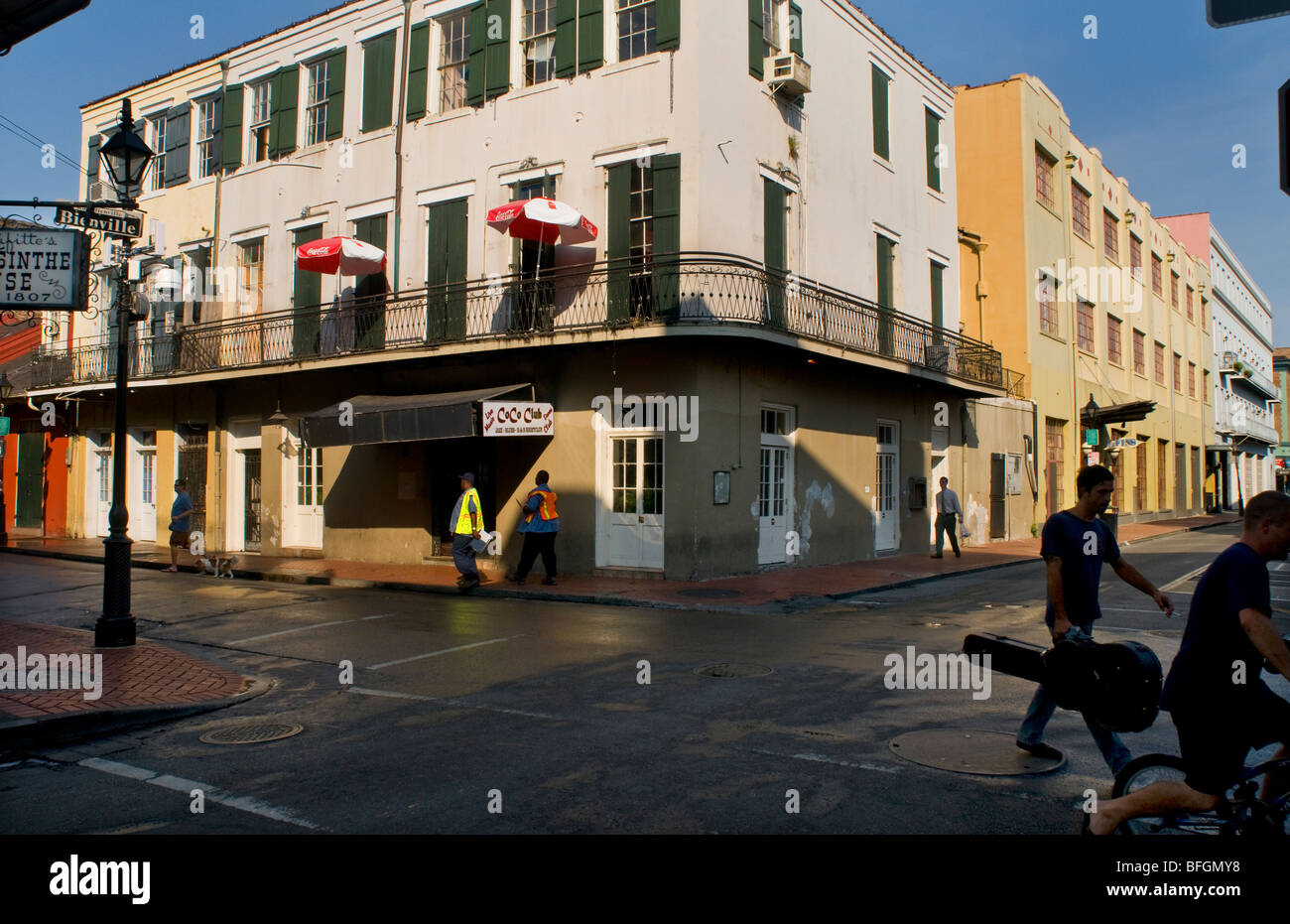 Bar And Hotel On Corner Of Bourbon Street And Bienville New Orleans