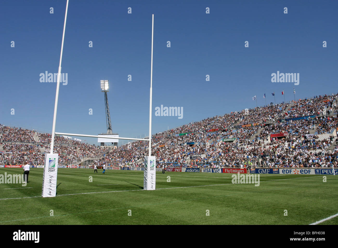 French Rugby stadium in Marseille, Stade Velodrome, host for the Rugby World Cup 2007 - Stock Image