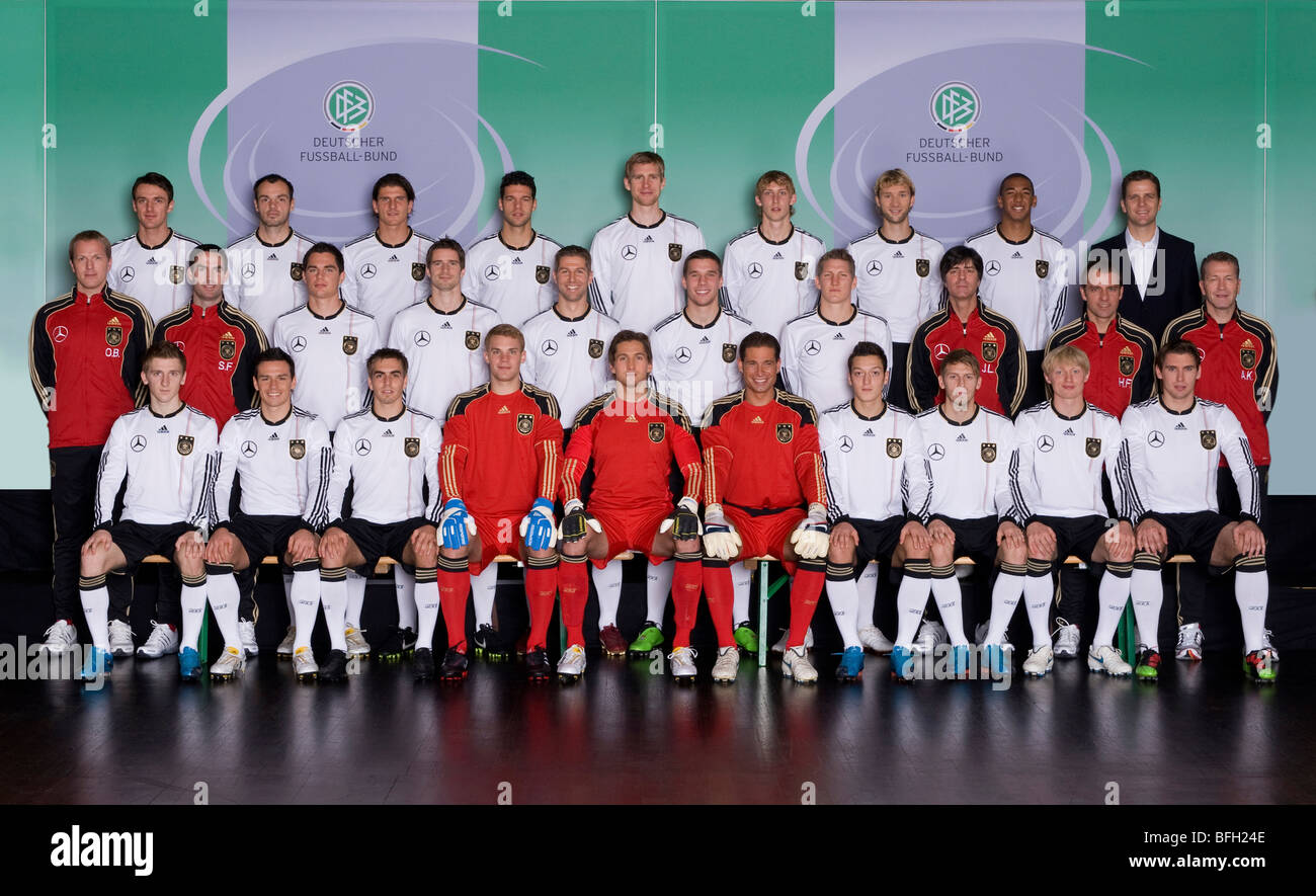 Team photo of the german national football team November 2009 - Stock Image