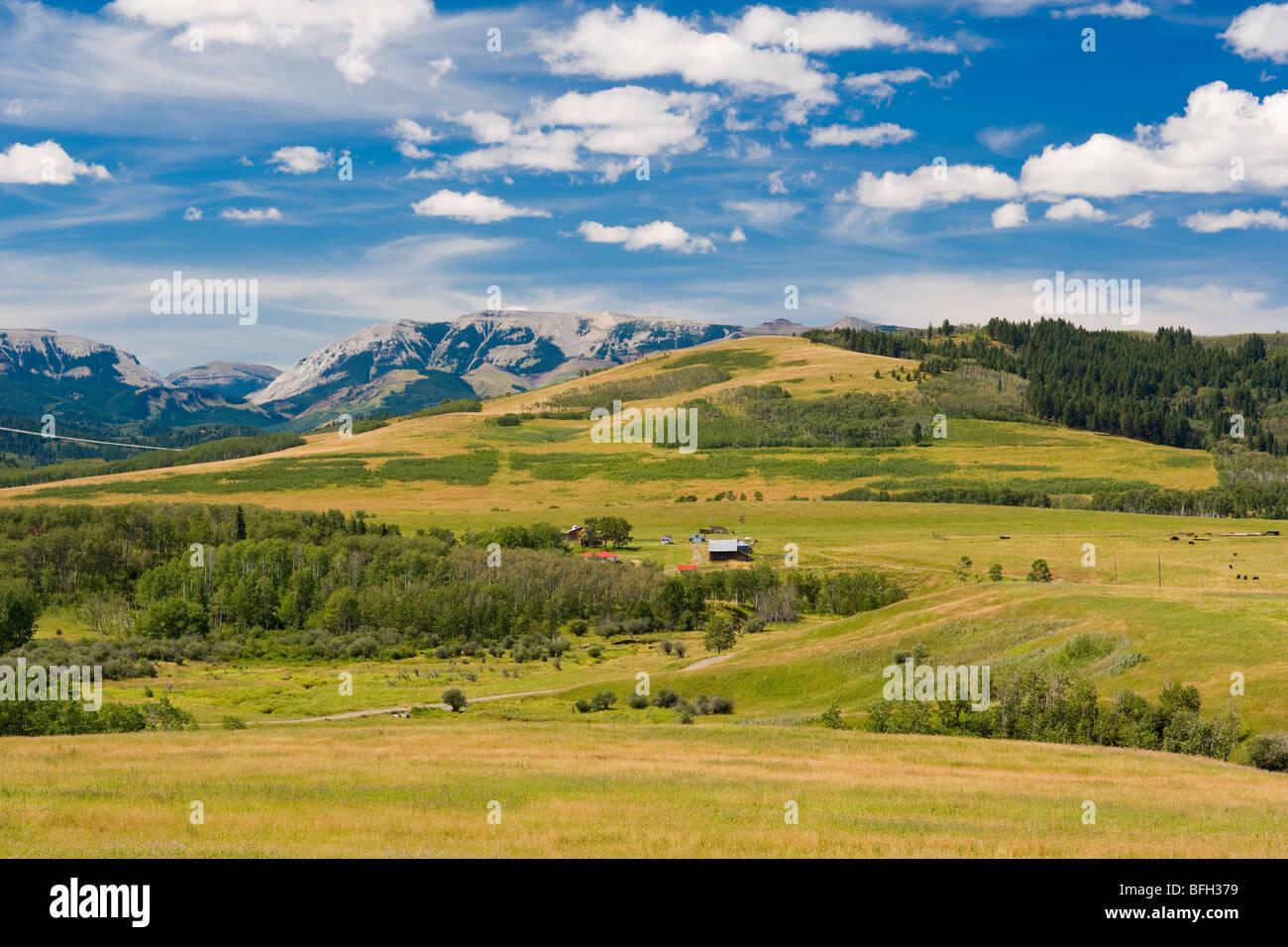 Longview, Crowsnest Highway, Alberta, Canada - Stock Image