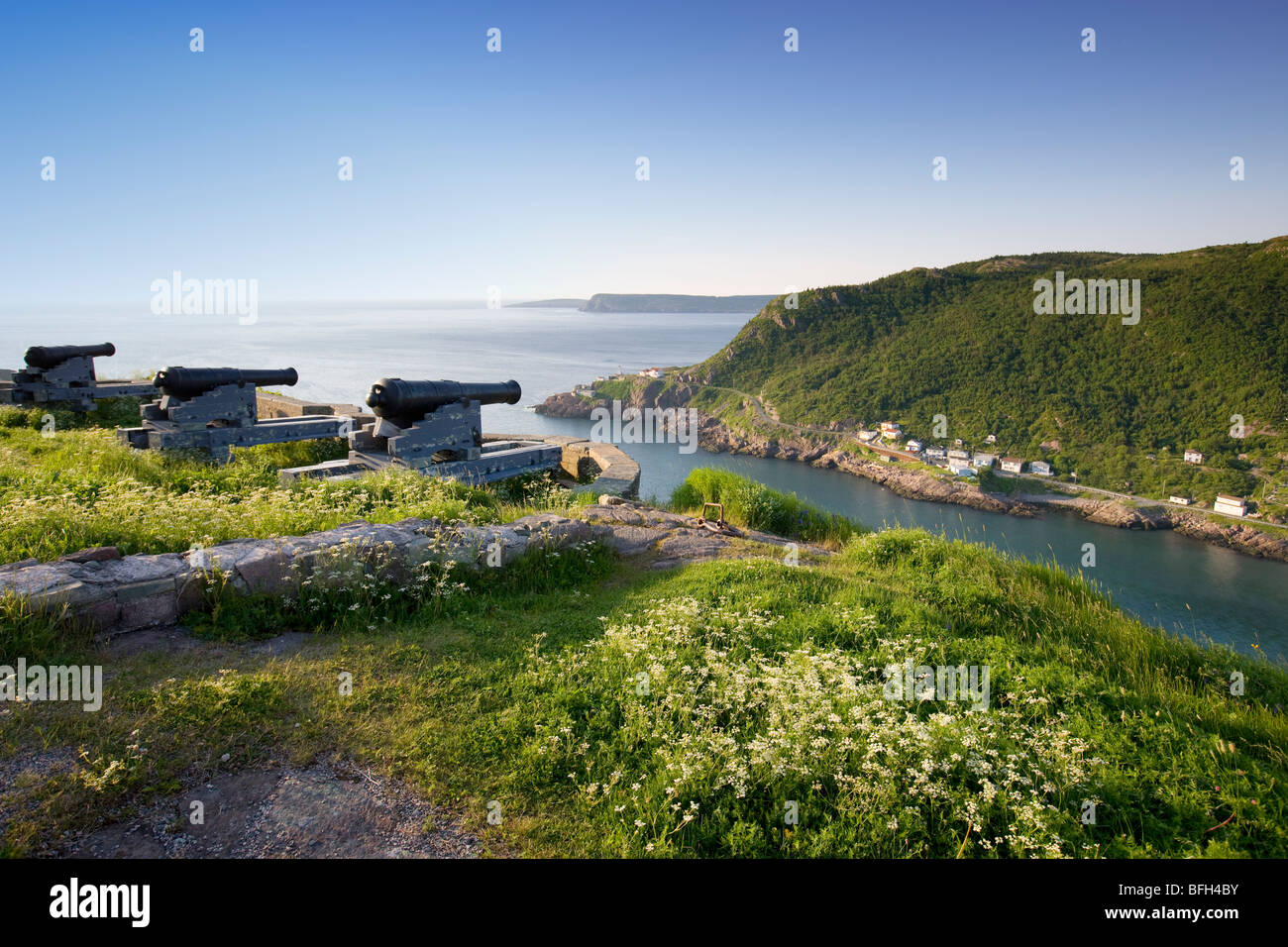 View from Signal Hill, National Historic Site. St. John's, Newfoundland, Canada - Stock Image
