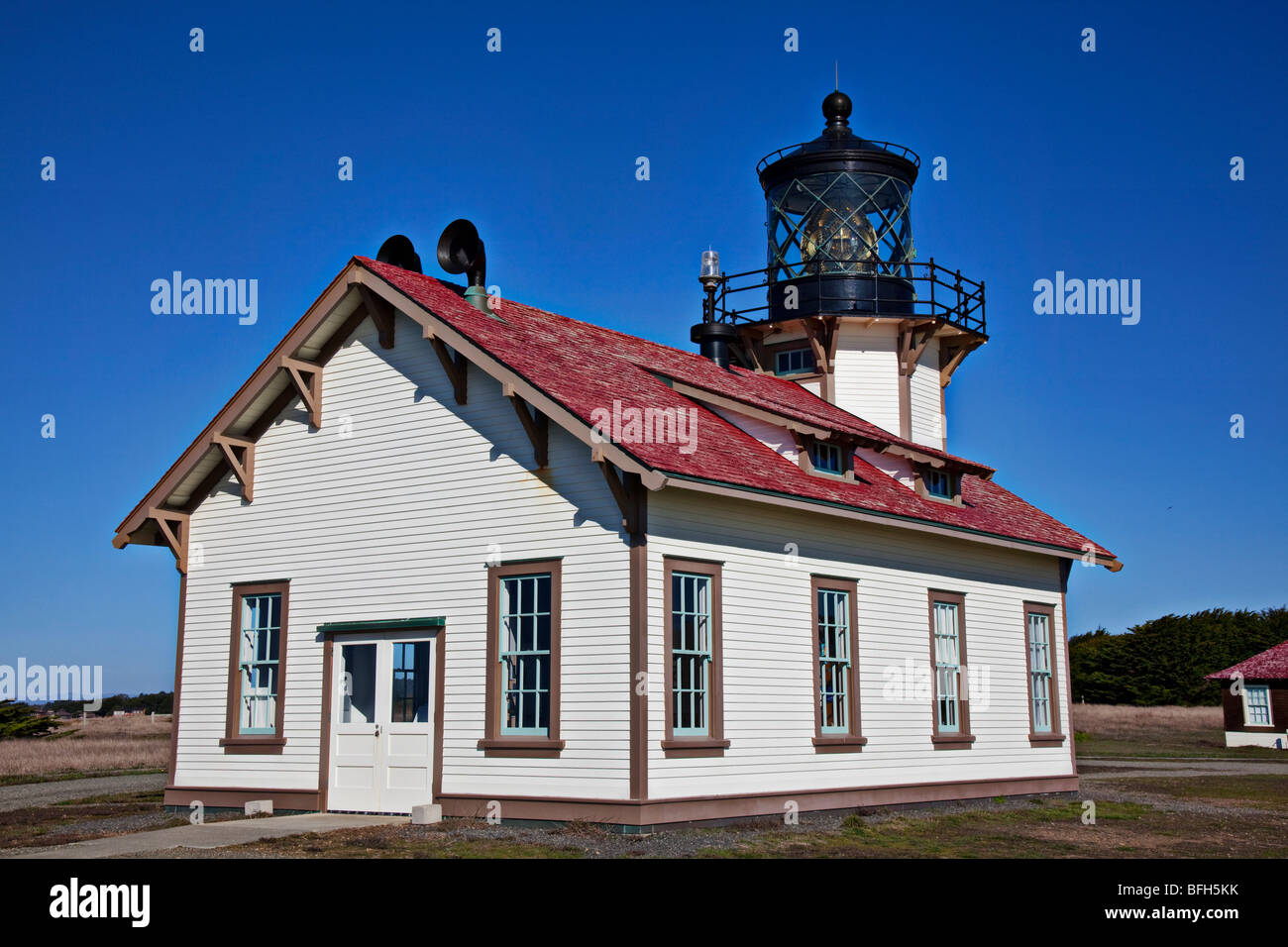 Point Cabrillo Light Station, lighthouse along the Mendocino coast, California - Stock Image
