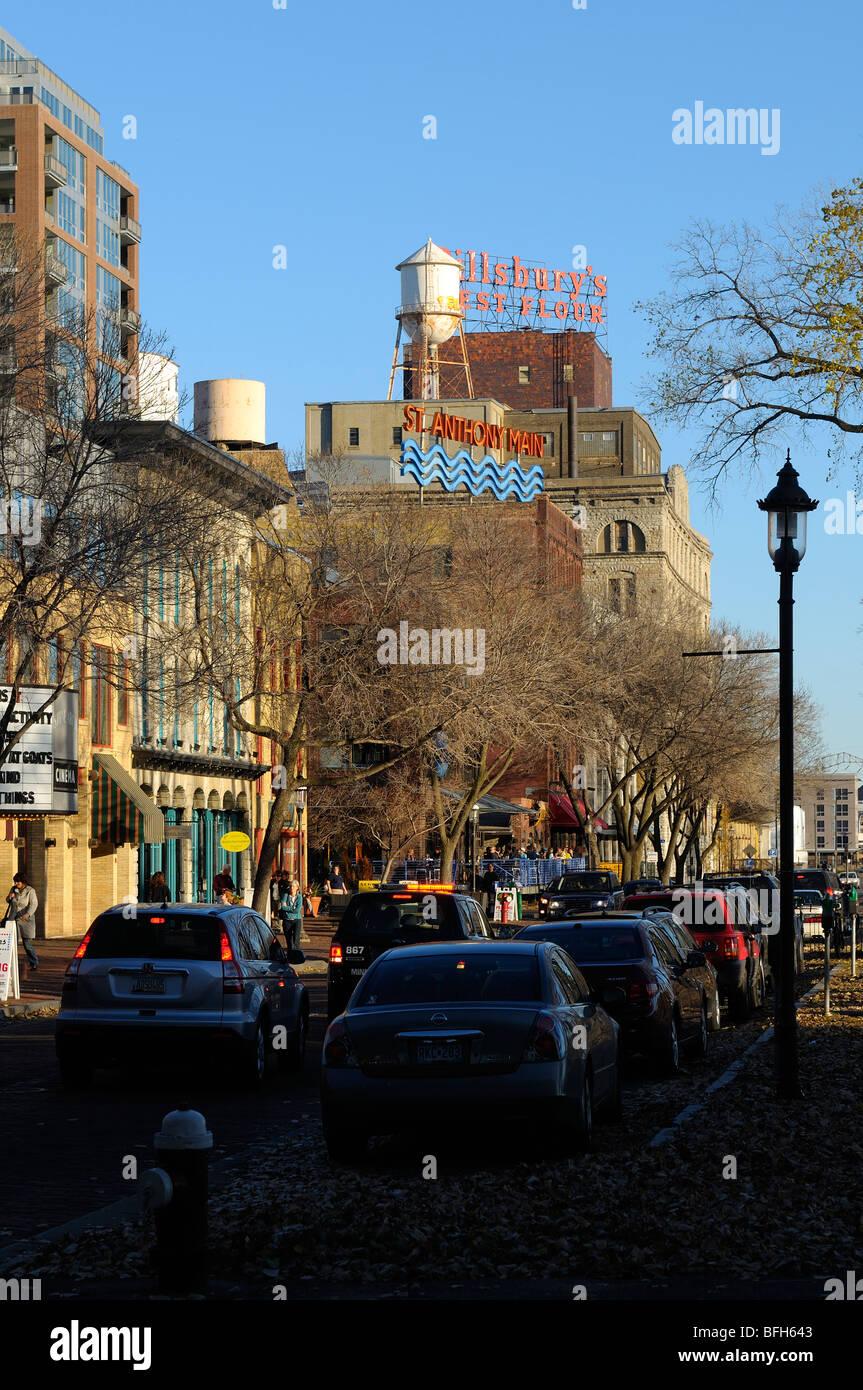 St Anthony Main Street. - Stock Image