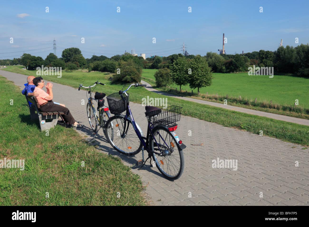 D-Duisburg, Rhine, Lower Rhine, Ruhr area, North Rhine-Westphalia, D-Duisburg-Rheinhausen, D-Duisburg-Rheinhausen - Stock Image