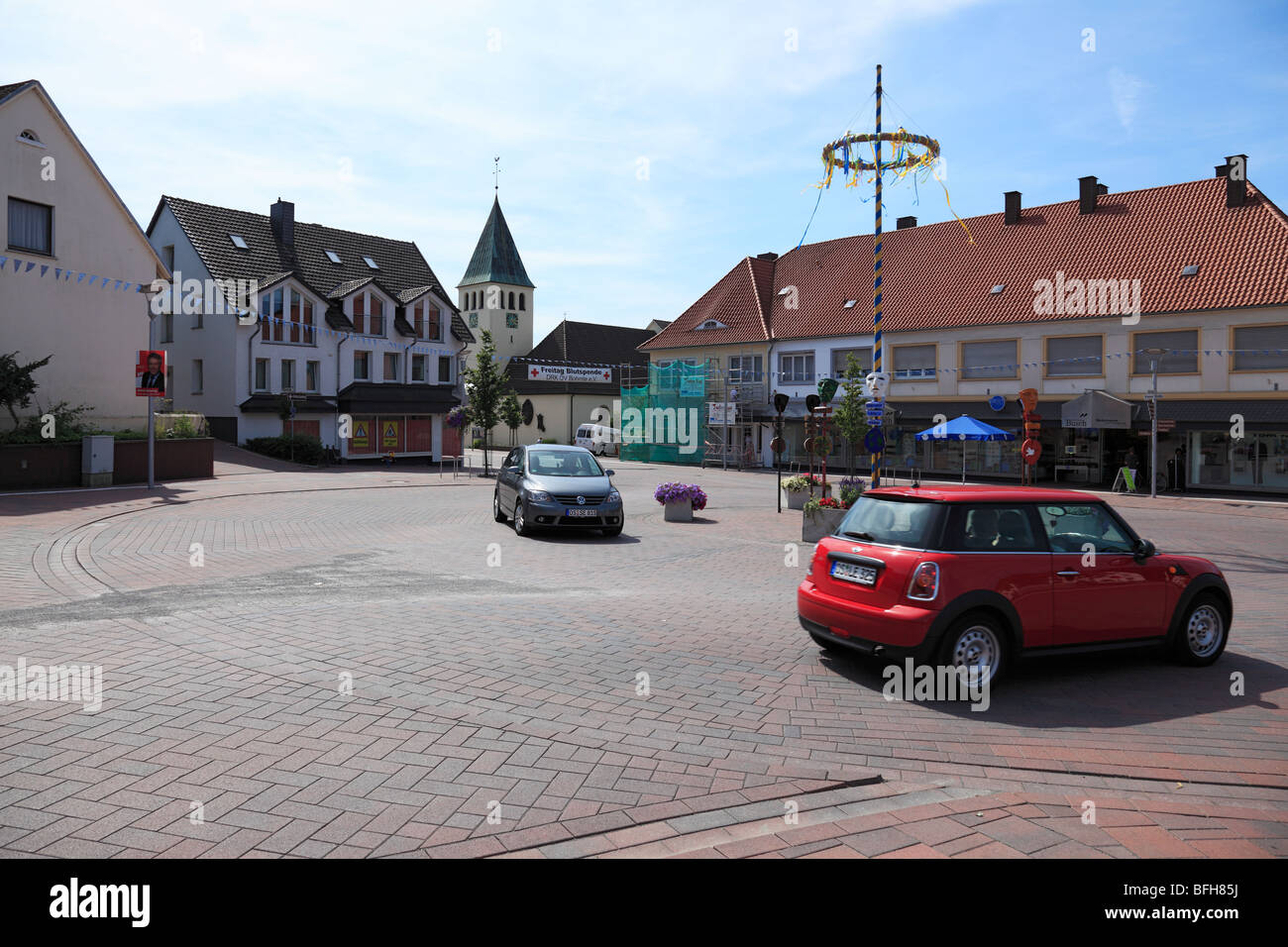 D-Bohmte, Hunte, Midland Canal, Duemmer, Osnabrueck Country, Lower Saxony, traffic, traffic project, attempt of - Stock Image
