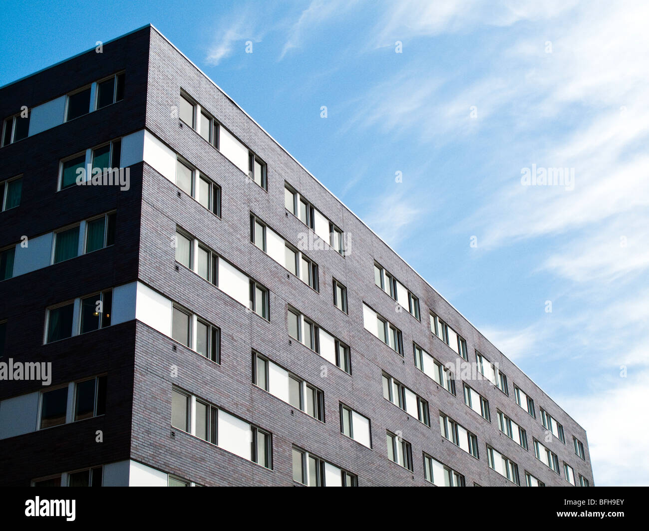 detail of a student residence, condominium - Stock Image