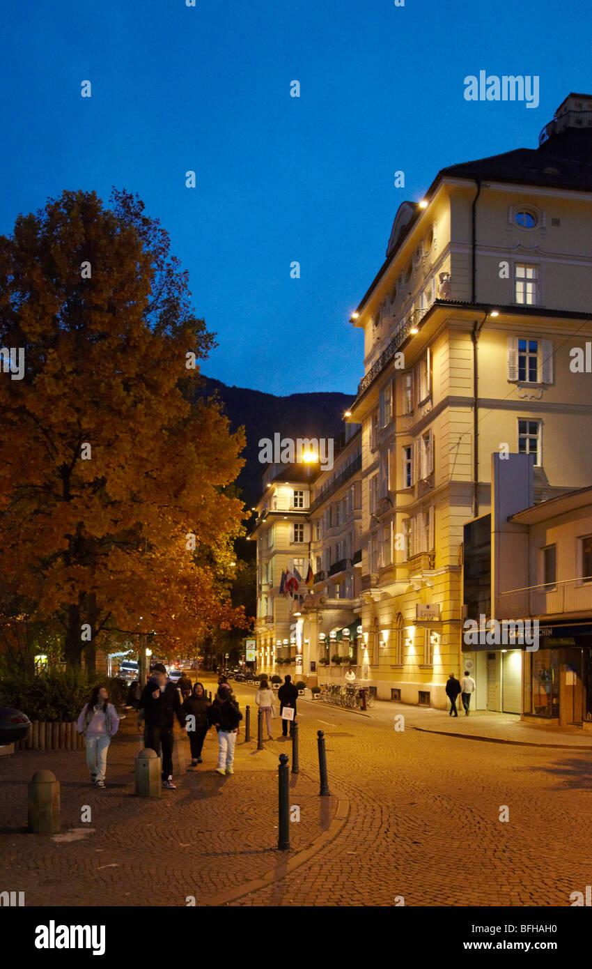 Hotel Laurin in the historical centre of Bolzano, Alto Adige, Italy. - Stock Image
