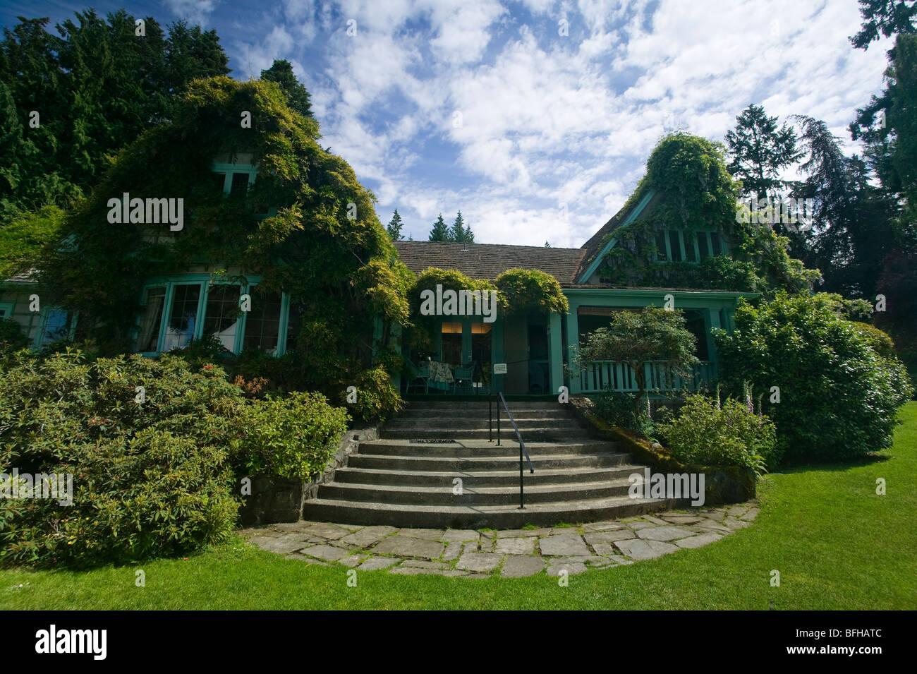 Milner Gardens, built in 1931, Qualicum Beach, Vancouver Island ...