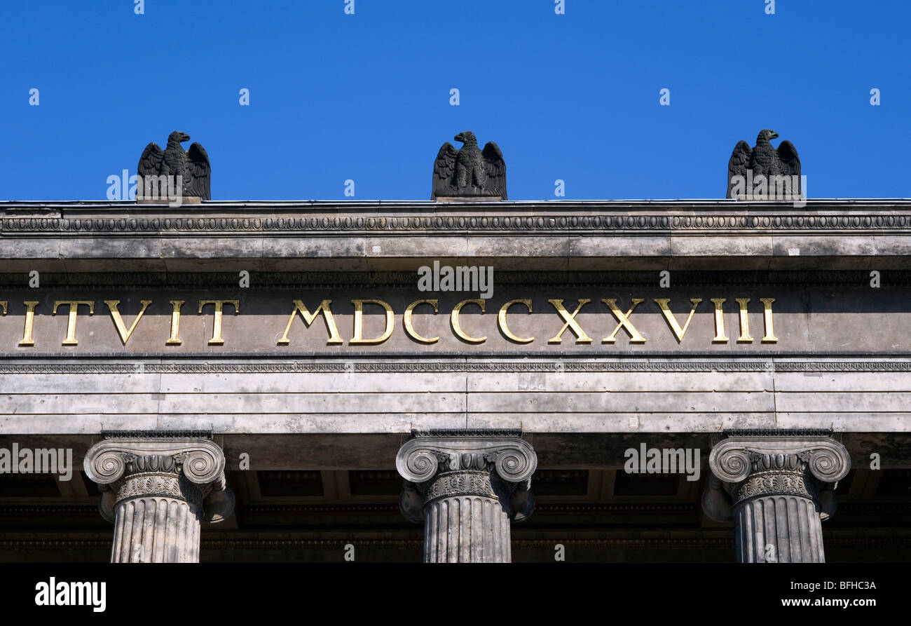 Berlin 2009,Altes Museum, 1989 DDR Germany Unified positive forward history War Cold War end East West Divide city - Stock Image