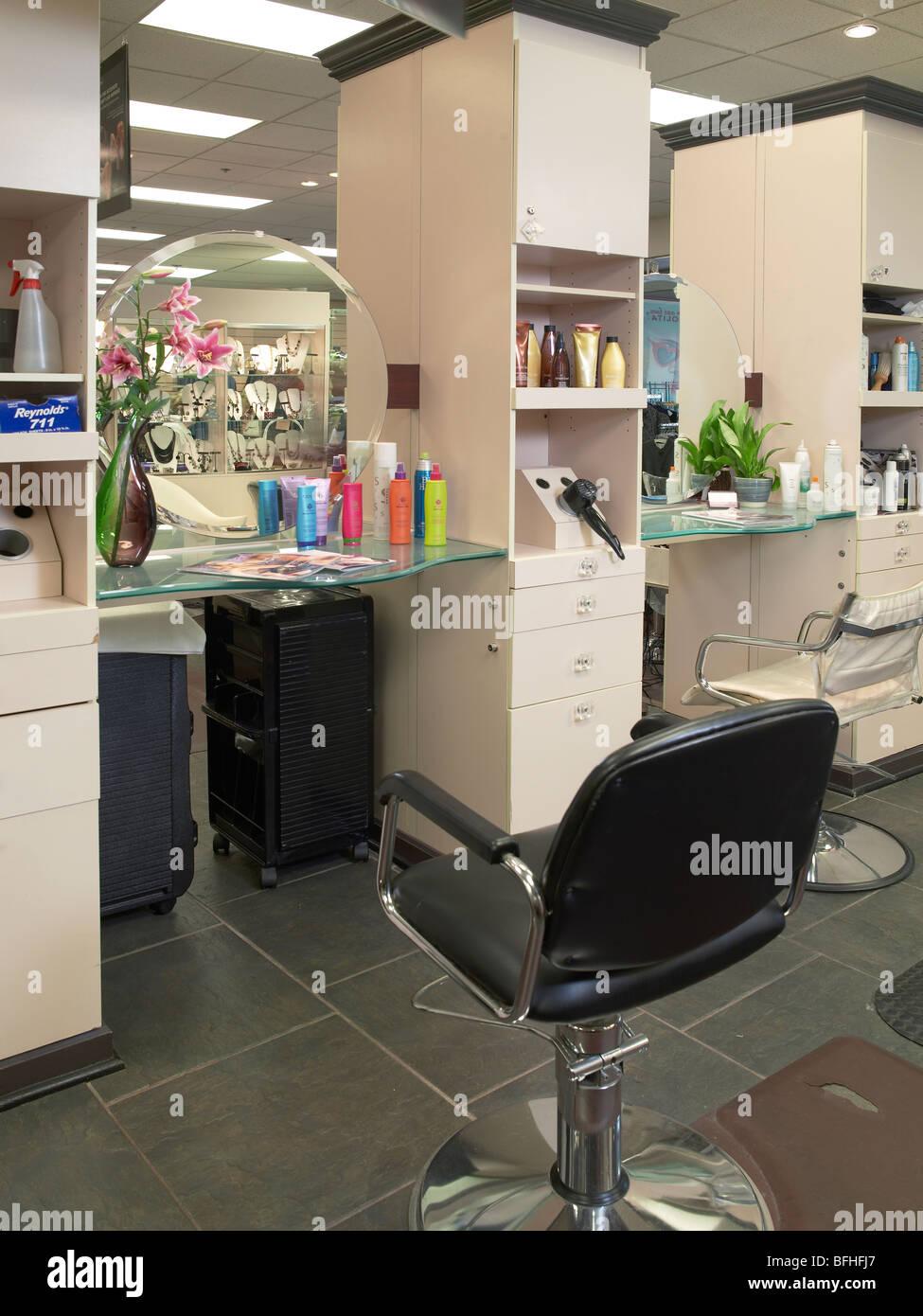 Hair Salon Barbershop - Stock Image
