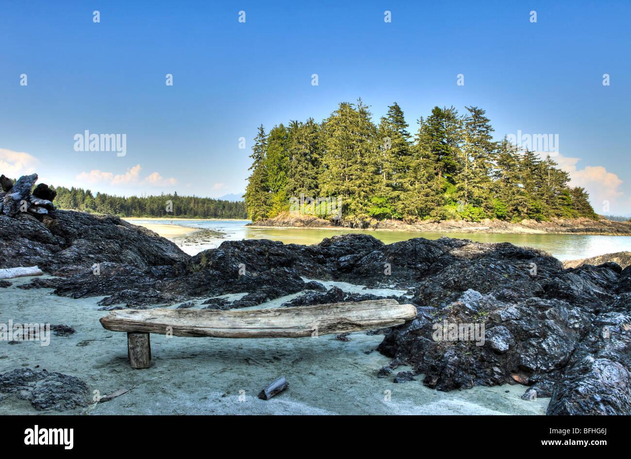 Schooner Cove, Pacific Rim National Park, British Columbia, Canada - Stock Image