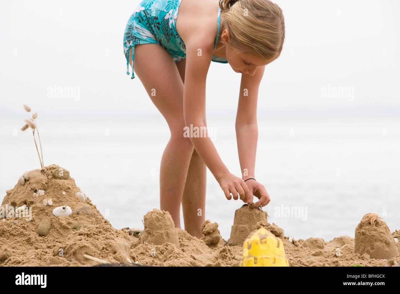 teen girl blonde on beach stock photos teen girl blonde on beach stock images alamy. Black Bedroom Furniture Sets. Home Design Ideas
