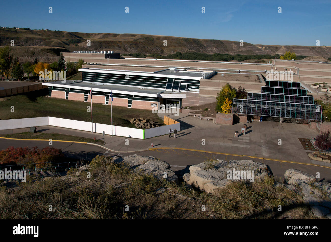 Royal Tyrrell Museum, Dinosaur/palaeontology.  Drumheller, Alberta, Canada - Stock Image