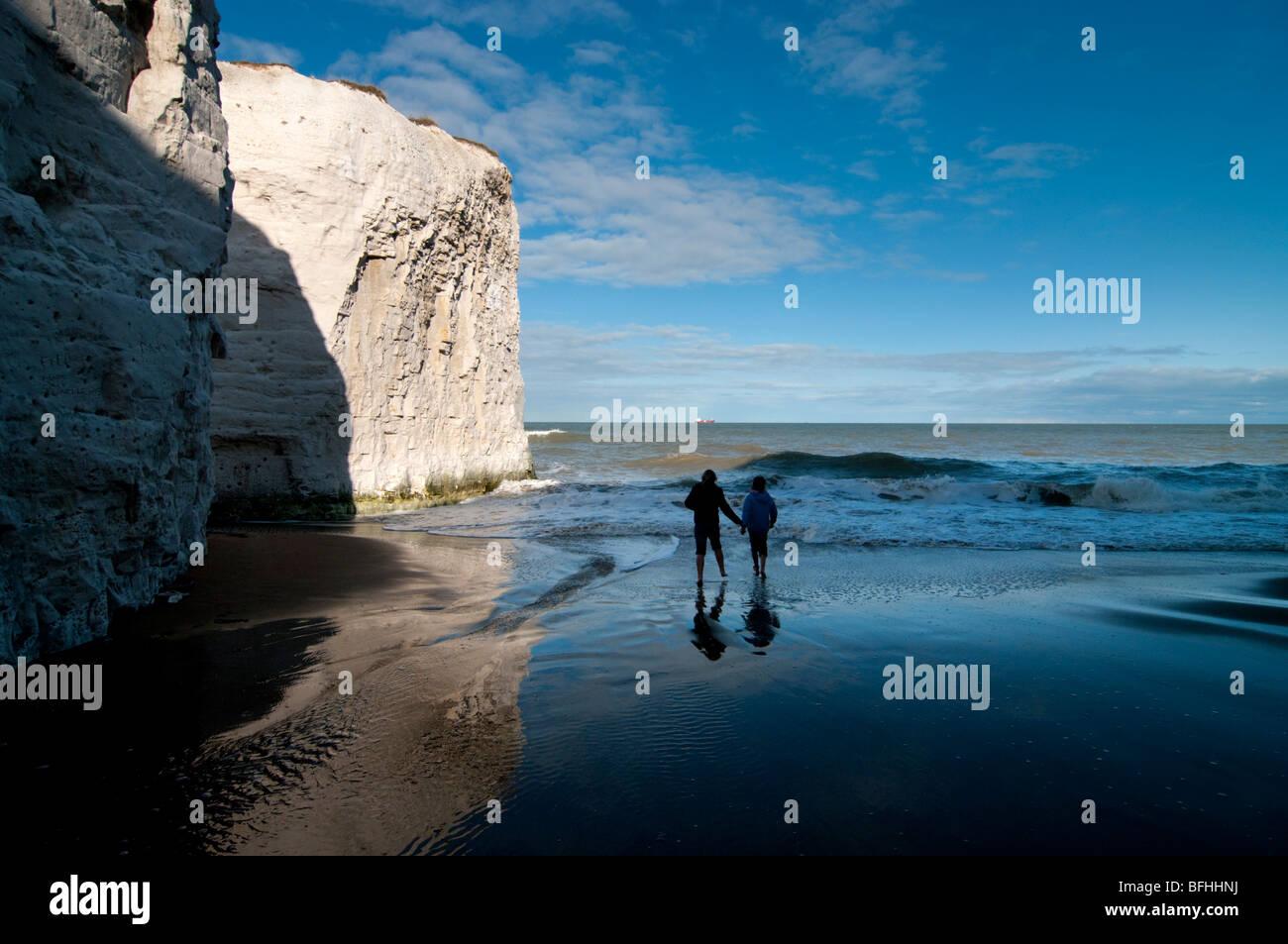 Europe, UK, england, kent, broadstairs 2009 beach viking bay - Stock Image