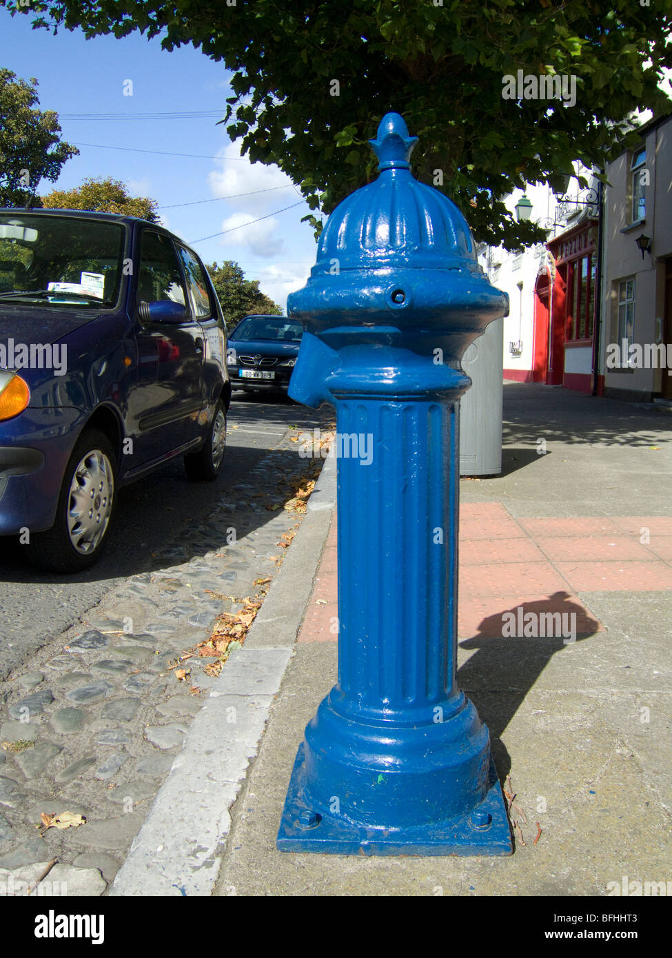 A relic of the social past is this water tap on the street for public domestic water supply - Skerries, county Dublin, - Stock Image