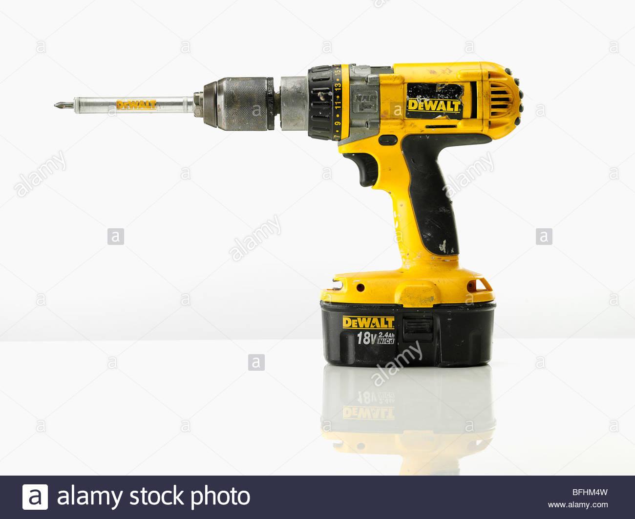 Dewalt Power drill cordless - Stock Image