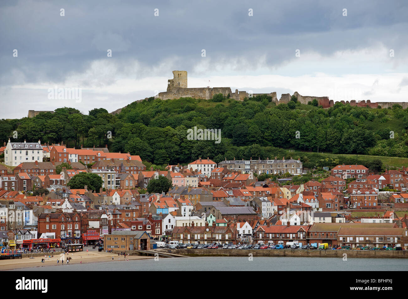 The seaside resort of Scarborough, North Yorkshire, England. - Stock Image