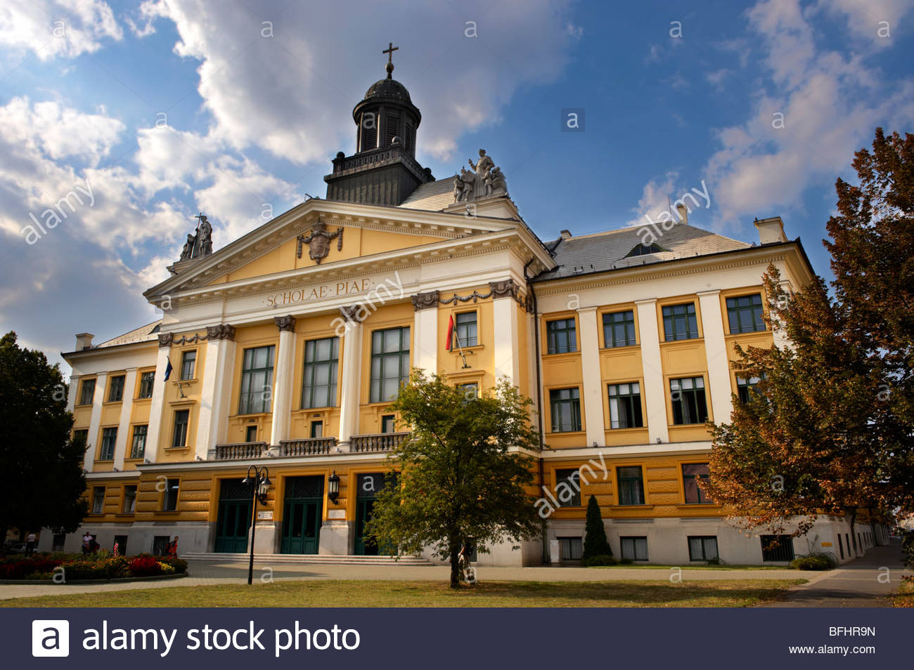 A Neo Classic school- Kecskemet , Hungary - Stock Image