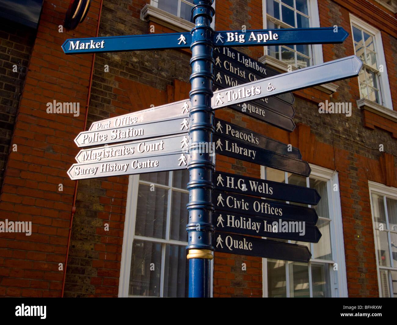 Europe, UK, england, surrey, woking town - Stock Image