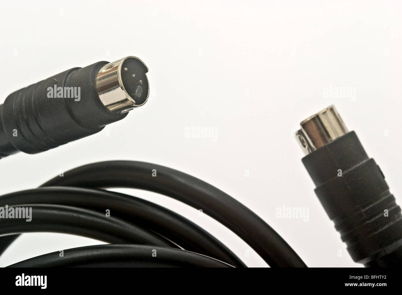 Two Black And Metal Audio Video Connectors Stock Photo 26822966 Alamy