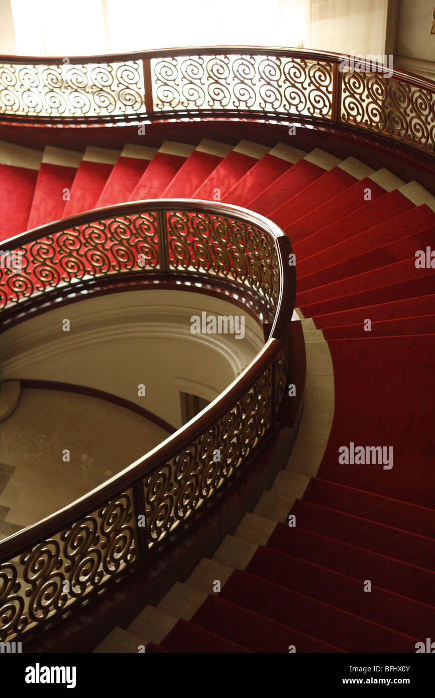 Spiral Staircase View From Top Down - Stock Image