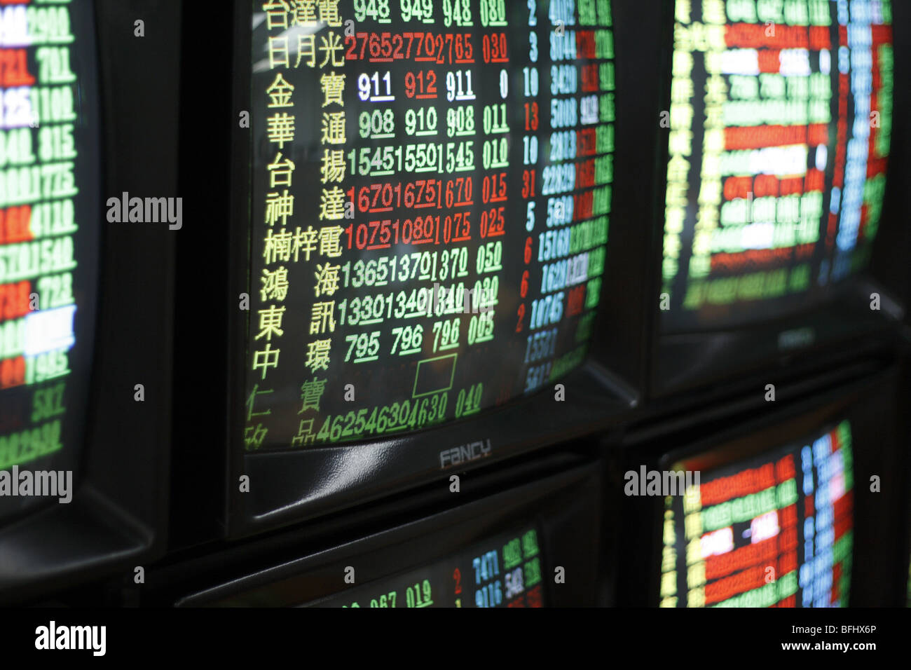 Stock Monitors, Taipei, Taiwan - Stock Image