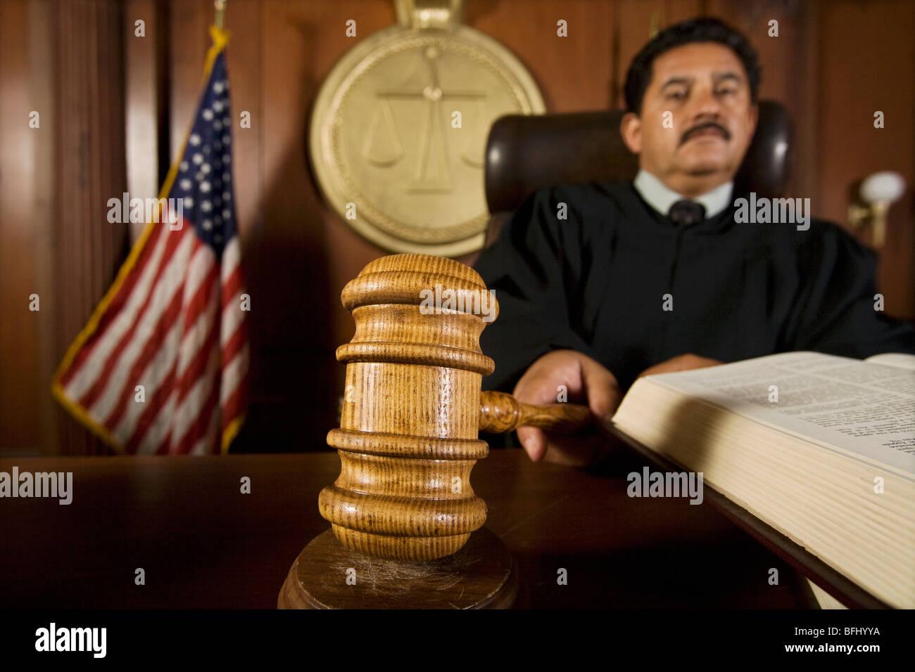 judge using gavel in court stock photo 26825326 alamy