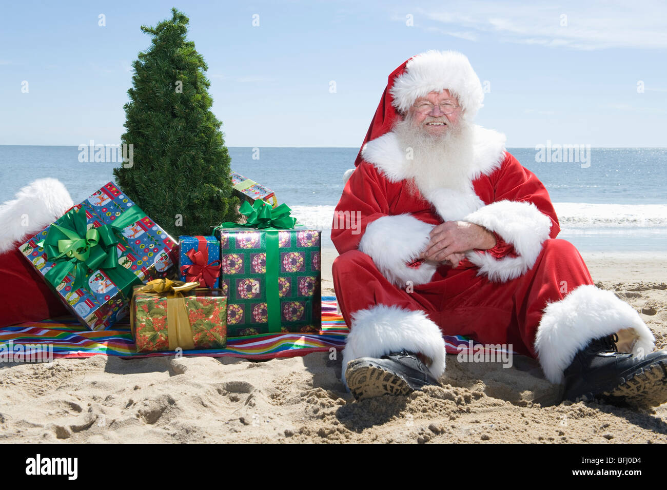 santa father christmas summer stock photos santa father. Black Bedroom Furniture Sets. Home Design Ideas