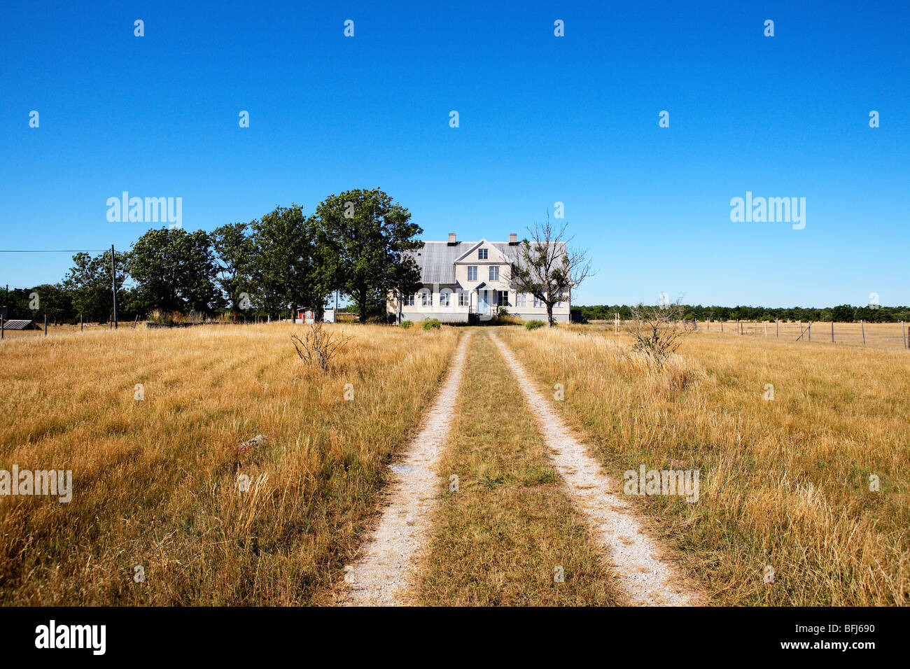 A house in the Swedish countryside, Sweden. - Stock Image