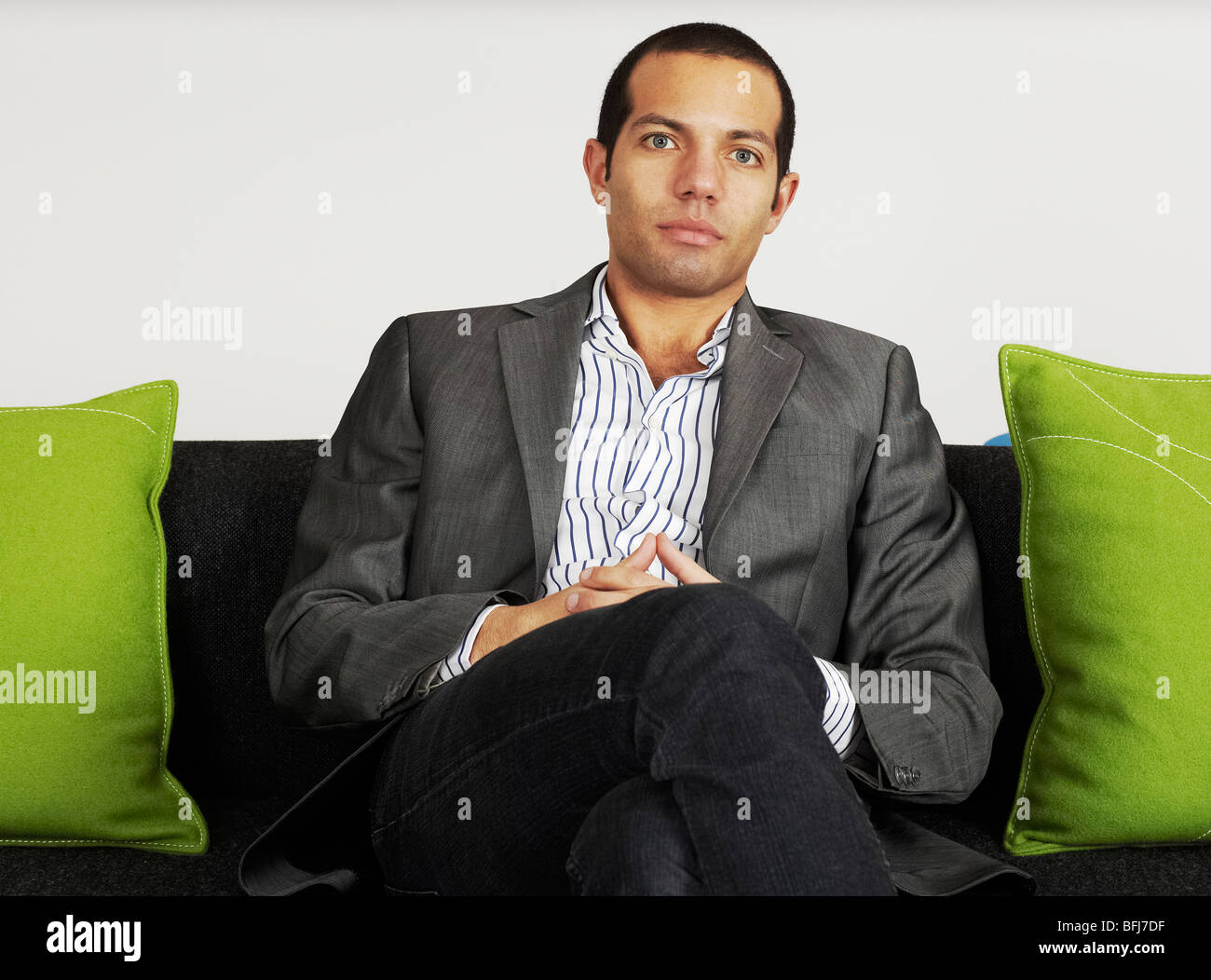Portrait of a businessman, Sweden. - Stock Image