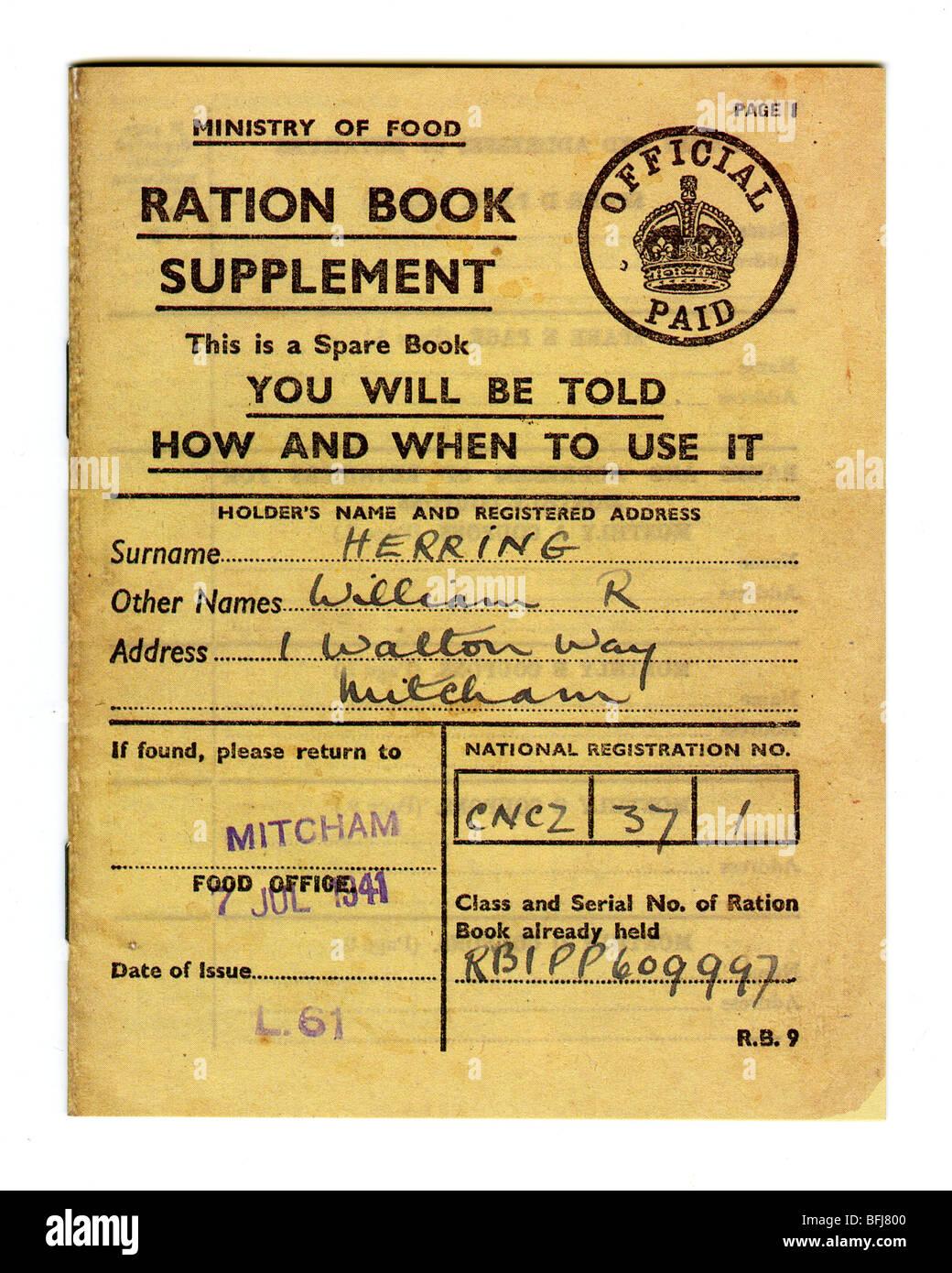 SET OF 10 Historical Wartime Memorabilia  Replica Ration Books School Project