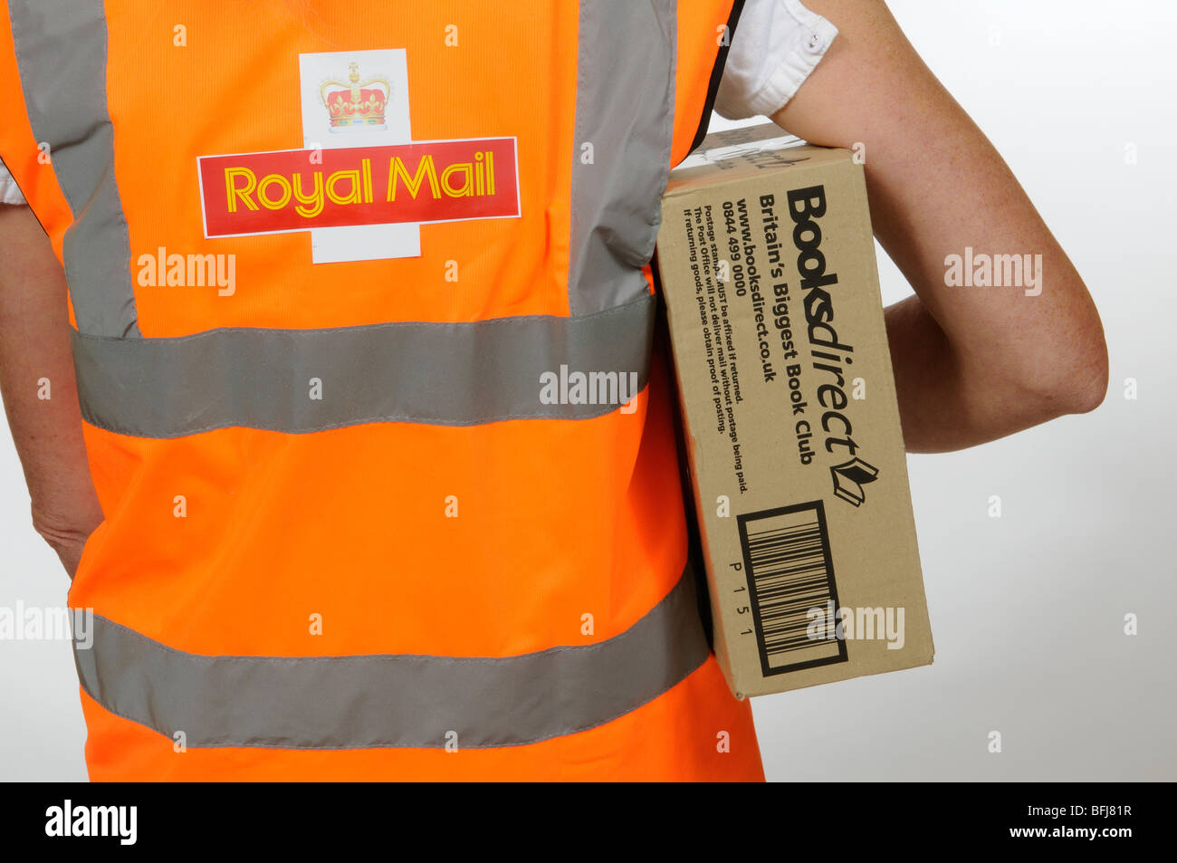 Royal Mail postal service delivery of reading material - Stock Image