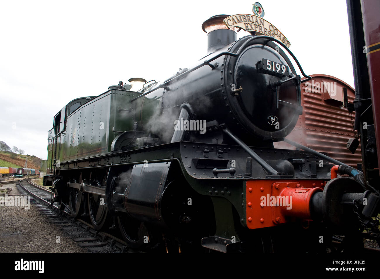 GWR Large Prairie steam locomotive at Cheddleton, Staffordshire - Stock Image