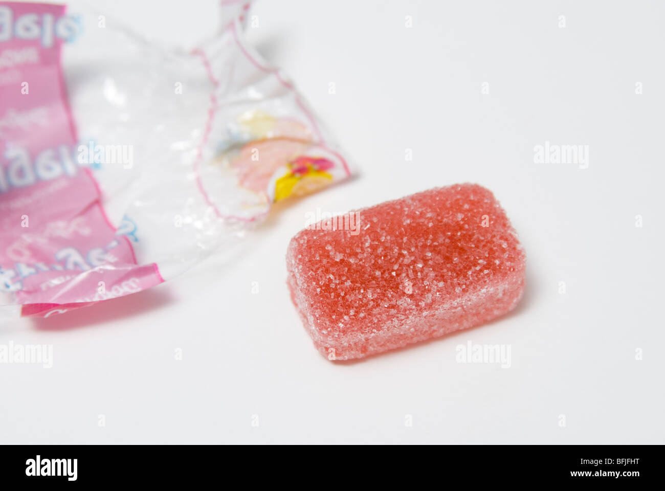 unwrapped gummy candy Stock Photo