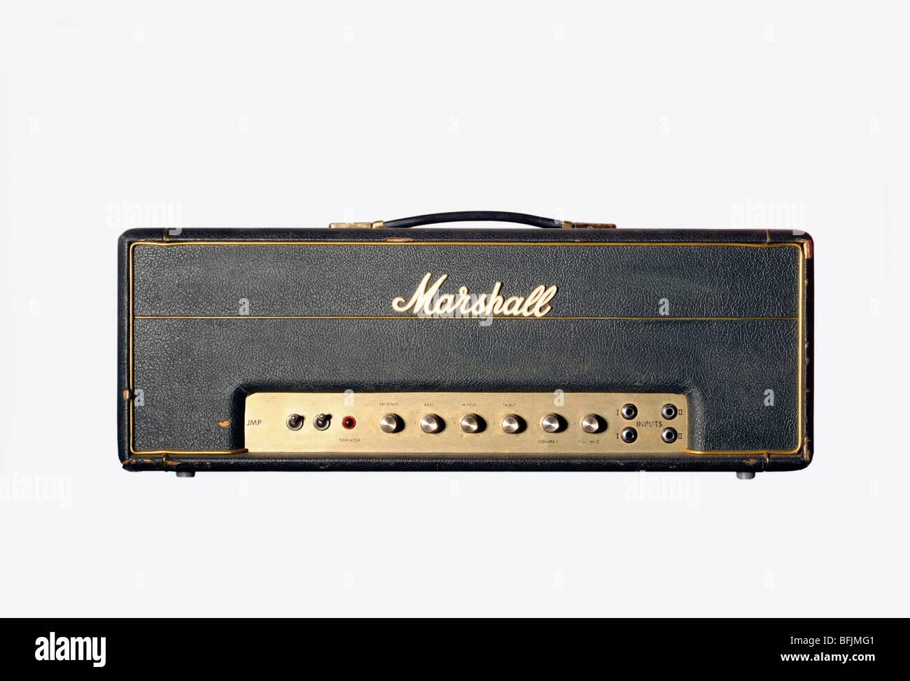 late 1960's Marshall JTM 45  50 watt valve amplifier Head - Stock Image