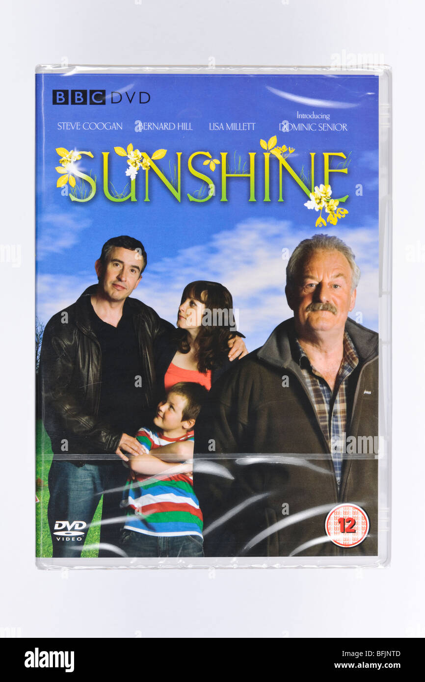 SUNSHINE DVD DISC BOX COVER COMEDY SITCOM  STARRING STEVE COOGAN ALSO KNOWN AS ALAN PARTRIDGE BBC DVD COMEDY TV. - Stock Image