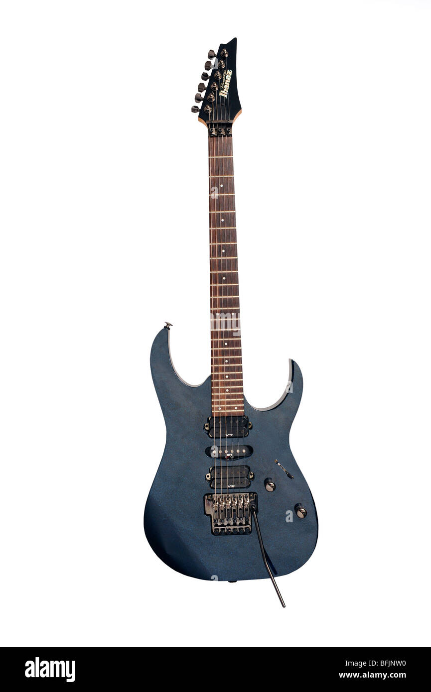 Ibanez modern electric rock guitar - Stock Image