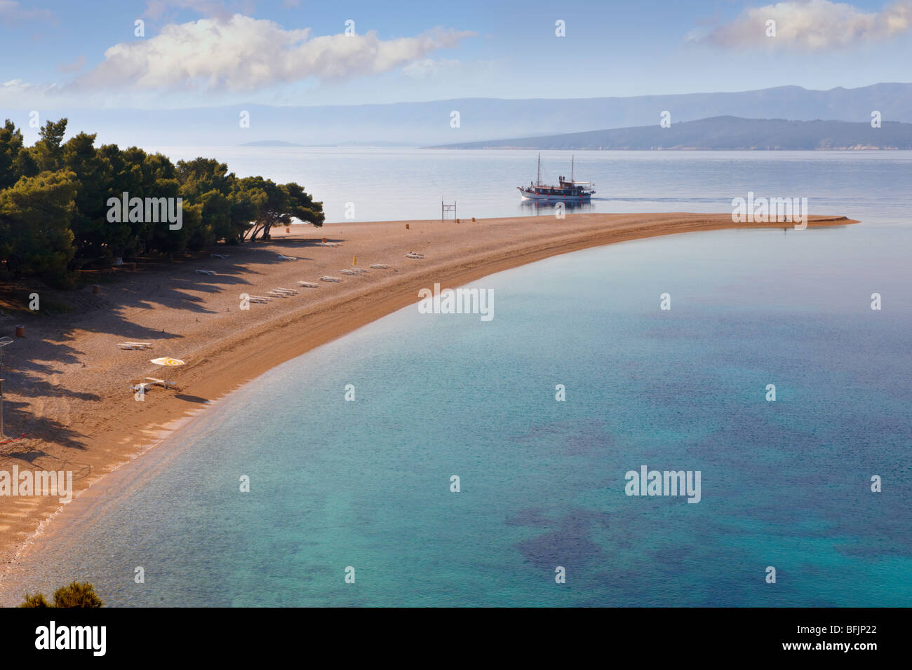 Zlati Rat ( Golden Cape beach ) Brač island, Croatia - Stock Image