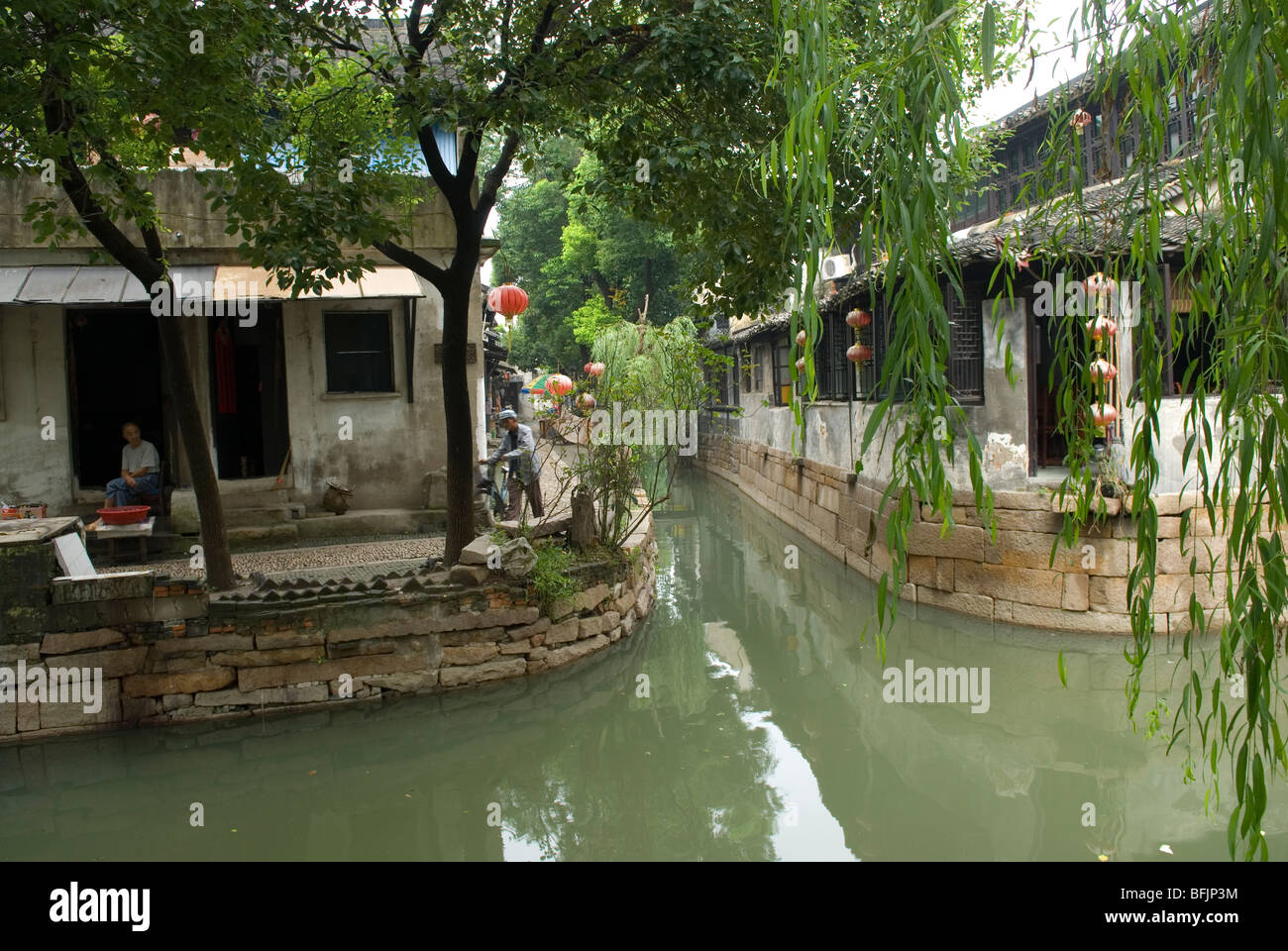 Canals In The Small Ancient Town Of Luzhi Jiangsu