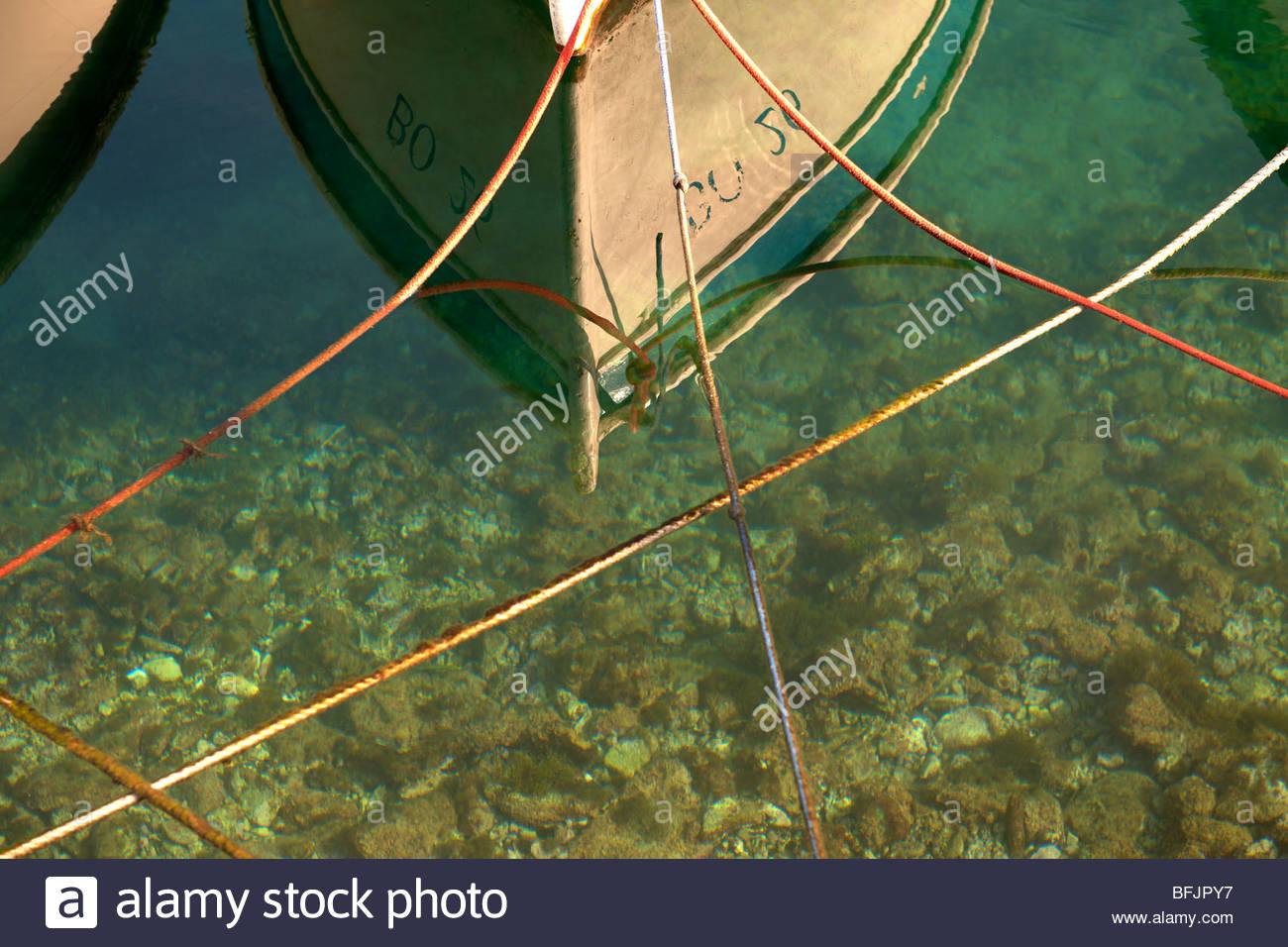 Fishing boats in Bol harbour, Brač island, Croatia - Stock Image