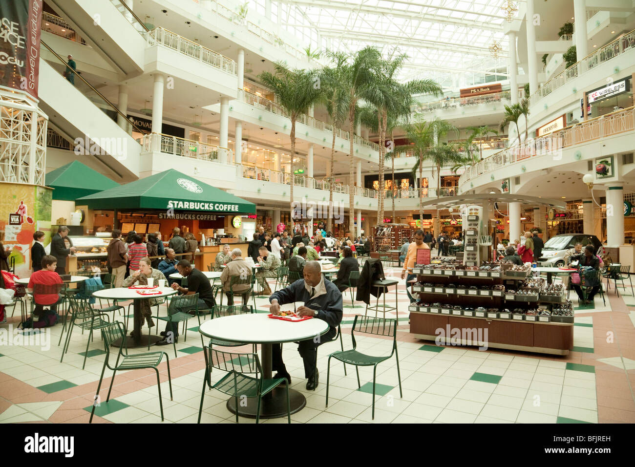A view in the Pentagon City shopping mall, washington DC, USA - Stock Image