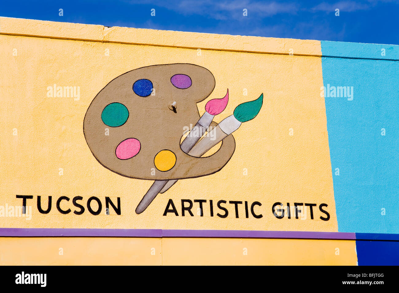 Art supply store on 4th Avenue in Tucson - Stock Image